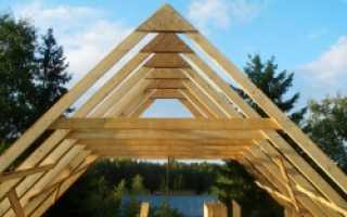 Как собрать крышу стропильную систему