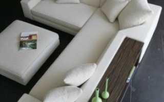 Уловой диван в интерьере гостиной