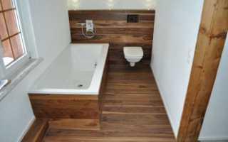 Дизайн ванной под дерево