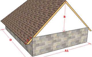 Соотношение высоты крыши к высоте дома