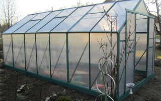 Теплицы с двускатной крышей из поликарбоната
