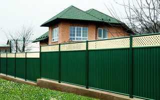 Заборы для частного дома фото из профнастила