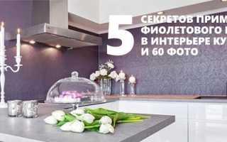 Дизайн фиолетовой кухни и сочетания оттенков