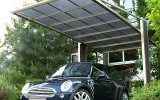 Автомобильные навесы из поликарбоната фото