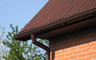 Как посчитать водосточную систему на крышу
