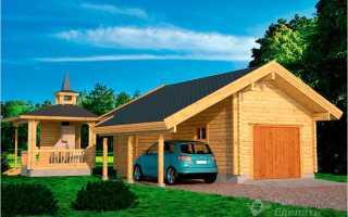 Как построить гараж из дерева?
