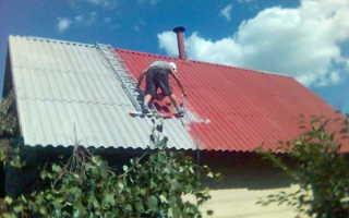 Чем можно покрасить старый шифер на крыше?