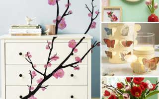 Весенний декор в комнате своими руками