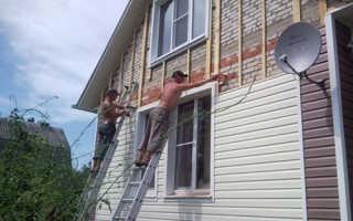 Как обшить сайдингом фронтон дома