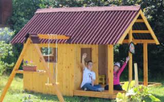 Детский домик своими руками 100 фото идей, чертежи, иструкция
