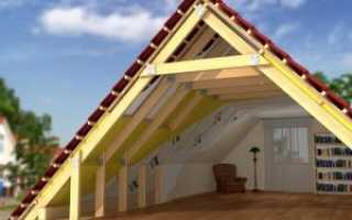 Устройство фронтона двухскатной крыши