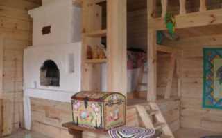 Русская печь в интерьере современного частного дома