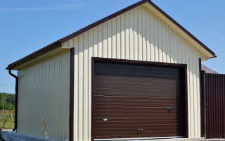 Чертеж гаража из металлопрофиля