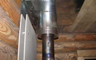 Как правильно установить дымоход для банной печи?
